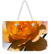 Yellow And White Rose Weekender Tote Bag