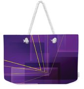 Yellow Angles Through Purple Landscape Weekender Tote Bag