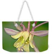 Yellow Aquilegia Bloom Weekender Tote Bag