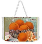 Yellow Aster Brand Oranges Vertical Weekender Tote Bag