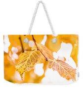 Yellow Autumn Weekender Tote Bag