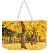 Yellow Autumn Wonderland Weekender Tote Bag