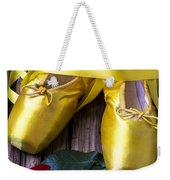 Yellow Ballet Shoes Weekender Tote Bag