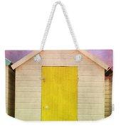 Yellow Beach Hut Weekender Tote Bag