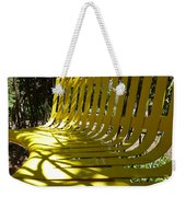Yellow Bench Weekender Tote Bag