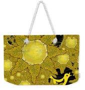 Yellow Bird Sings In The Sunflowers Weekender Tote Bag