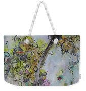 Yellow Blossoms Painting Flowr Butterflies Art Abstract Modern Spring Color Flower Art Weekender Tote Bag