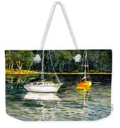 Yellow Boat Sister Bay Weekender Tote Bag
