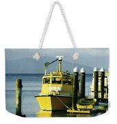 Yellow Boats Weekender Tote Bag by Ellen Henneke