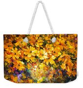Yellow Bouquet - Palette Knife Oil Painting On Canvas By Leonid Afremov Weekender Tote Bag