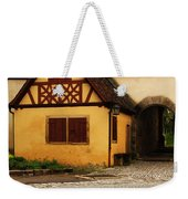 Yellow Building And Wall In Rothenburg Germany Weekender Tote Bag