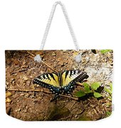 Yellow Butterfly Weekender Tote Bag