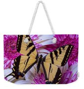 Yellow Butterfly Resting Weekender Tote Bag