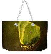 Yellow Butterfly Sitting On The Moss  Weekender Tote Bag