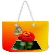 Yellow Butterfly Weekender Tote Bag