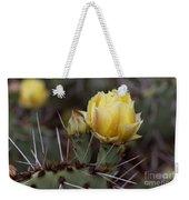 Yellow Cactus Weekender Tote Bag
