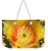 Yellow Cactus Flower Square Weekender Tote Bag