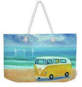 Yellow Camper Weekender Tote Bag