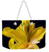 Yellow Canna Flower Weekender Tote Bag