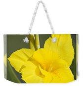Yellow Canna Weekender Tote Bag