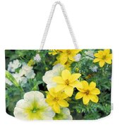 Yellow Cascade Weekender Tote Bag
