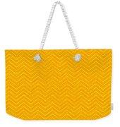 Yellow Chevron Waves Weekender Tote Bag
