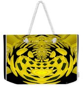 Yellow Chrysanthemums Polar Coordinates Effect Weekender Tote Bag