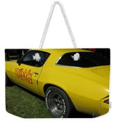 Yellow Classic Car Diablo At The Show Weekender Tote Bag