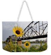 Yellow Cone Flowers And Bridge Weekender Tote Bag