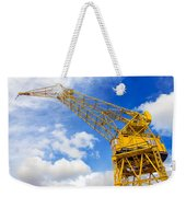 Yellow Crane And Sky Weekender Tote Bag
