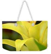 Yellow Cream Tropical Weekender Tote Bag