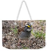 Yellow Crowned Sparrow Weekender Tote Bag