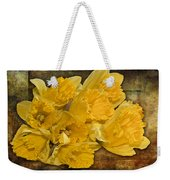 Yellow Daffodils And Texture Weekender Tote Bag