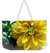 Yellow Dahlia Closeup Weekender Tote Bag