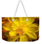 Yellow Dahlia Under Water Weekender Tote Bag