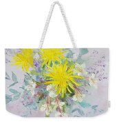 Yellow Dahlias And Peruvian Lilies Weekender Tote Bag
