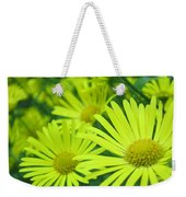Yellow Daisies Close-up Weekender Tote Bag