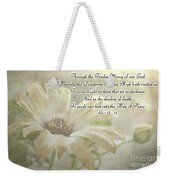 Yellow Daisy Photoart  With Verse Weekender Tote Bag