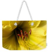 Grace Yellow Day Lily Art Weekender Tote Bag