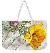 Yellow Desert Flower Weekender Tote Bag