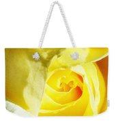 Yellow Diamond Rose Palm Springs Weekender Tote Bag