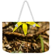 Yellow Dogtooth Trout Lilly Weekender Tote Bag