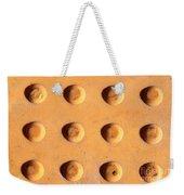 Yellow Dots Metal Weekender Tote Bag