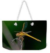 Yellow Dragonfly Weekender Tote Bag
