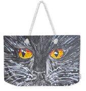 Yellow Eyed Black Cat Weekender Tote Bag