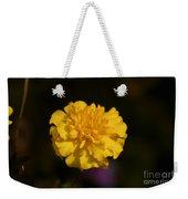 Yellow Fall Flower Weekender Tote Bag