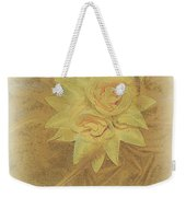 Yellow Fascinator With Feathers Weekender Tote Bag