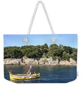 Yellow Fishing Boat - Cote D'azur Weekender Tote Bag