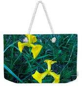 Yellow Flag Iris Weekender Tote Bag