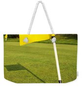 Yellow Flag On The Green Weekender Tote Bag